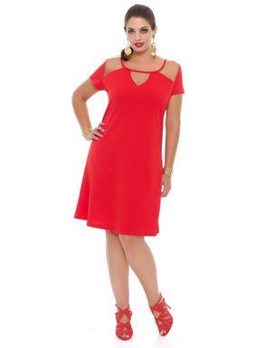 Vestido-vermelho-detalhe-tule-manga-curta-Domenica-Solazzo-1