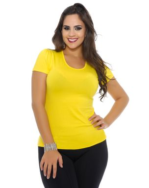 Blusa-feminina-manga-curta-Domenica-Solazzo-amarela-1