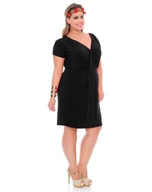 Vestido-de-malha-manga-curta-com-frente-transpassada-preto-75205-6
