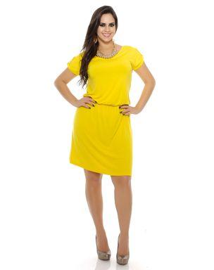 Vestido-de-malha-cintura-franzida-manga-curta-Domencia-Solazzo--1