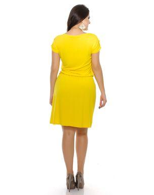 Vestido-de-malha-cintura-franzida-manga-curta-Domencia-Solazzo--6