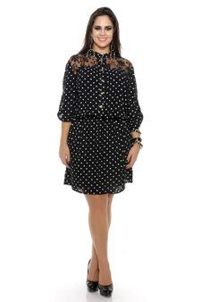 Vestido-camisa-estampa-de-bolinha-e-renda-Plus-Size-5