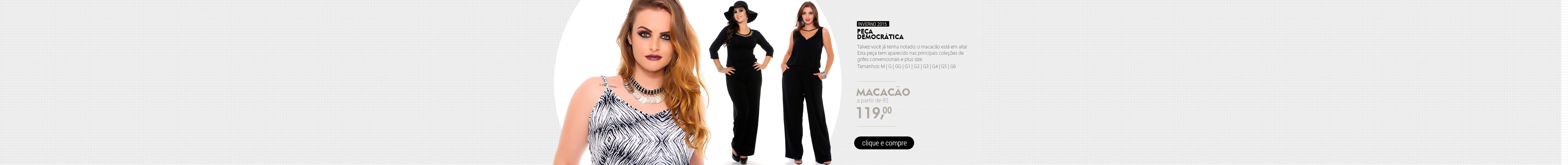 Macacao Plus Size