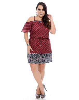 Vestido-Tartan-Plus-Size