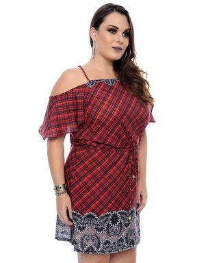 Vestido-Tartan-Plus-Size-1