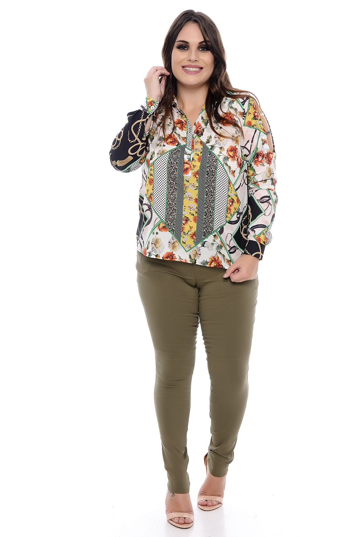 0923784d15 Camisa Feminina Corrente Plus Size - Chic e Elegante