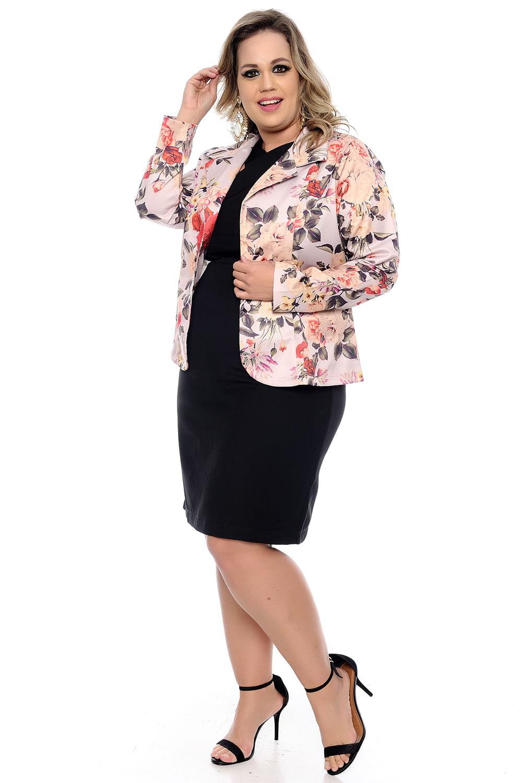 ed35804afc Blazer Floral Plus Size - Chic e Elegante