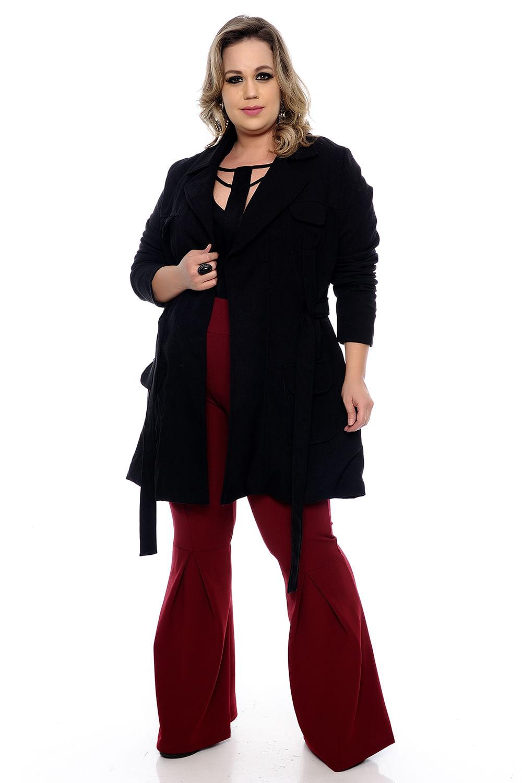 d225e3570 Casaco Alfaiataria Lã Batida Plus Size - Chic e Elegante
