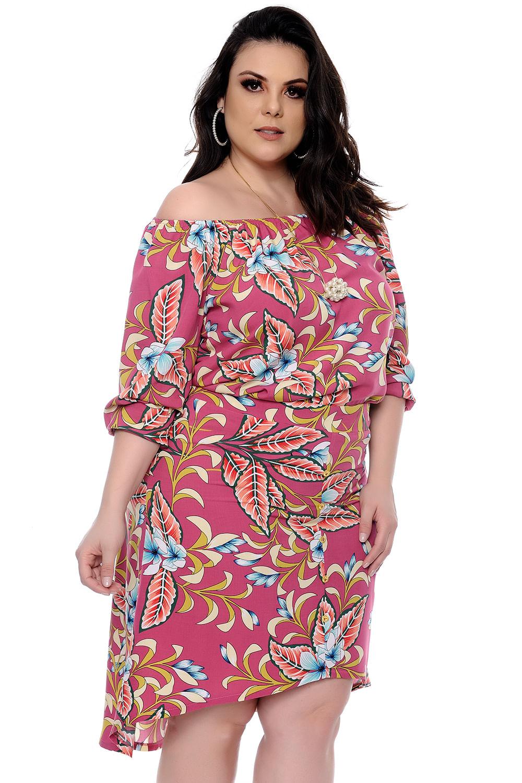4c77e24f78 Conjunto Mullet Floral Blusa e Saia Plus Size - Chic e Elegante
