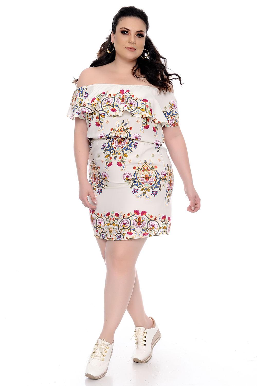 8fa2412bc9 Vestido Ciganinha Plus Size - Chic e Elegante