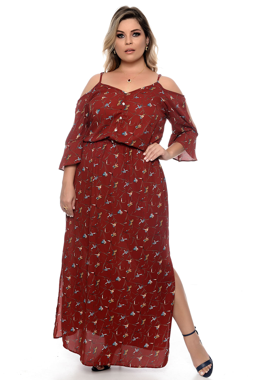 704d8a055 Vestido Florença Marsala Plus Size - Chic e Elegante