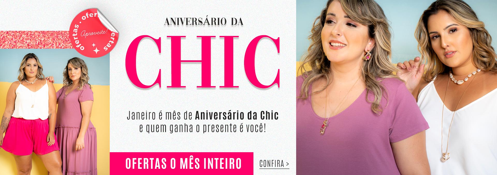 Banner Aniversário Chic